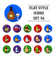 alcohol set icons in black style big collection vector image vector image