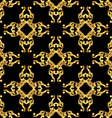 Asian golden pattern on black vector image vector image