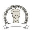 beer glass drink celebration emblem vector image vector image