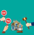 bidding auction concept vector image