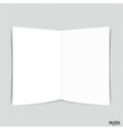 Blank two-leaf brochures Blank Bifold paper vector image