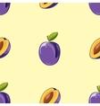 Blue plum seamless pattern vector image vector image
