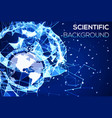 blue technology background geography concept vector image