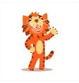 Boy Desguised As Tiger vector image vector image