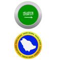 button as a symbol SAUDI ARABIA vector image vector image