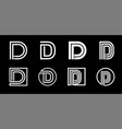 capital letter d modern set for monograms logos vector image vector image