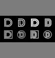 capital letter d modern set for monograms logos vector image