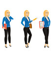 cartoon sexy young business woman or secretary in vector image vector image
