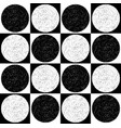 checkered pattern with speckled circles black and vector image
