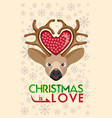 christmas is love vector image