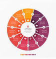 circle chart infographic template with 11 options vector image vector image