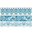 color set Ornate borders and vintage vector image vector image