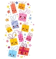 cute gifts background vector image vector image