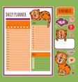 daily planner with tiger organizer vector image