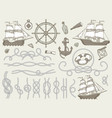 decorative marine elements sea rope frames vector image
