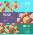 delivery packaging and logistics advertising vector image vector image