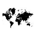 detailed map of the world silhouette vector image