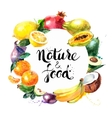 Eco food menu background Watercolor hand drawn vector image vector image