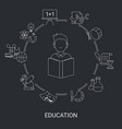 education infographic template education vector image