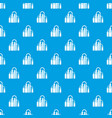 factory pattern seamless blue vector image vector image