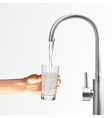 faucet water glass composition vector image vector image