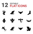 flying icons vector image vector image