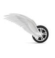 Flying wheel vector image vector image
