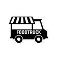 food truck logo icon foodtruck kitchen vector image