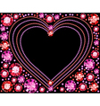 Gem Heart Frame vector image vector image
