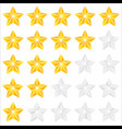 geometric contour faceted star icons - quality vector image vector image