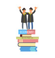 happy graduate characters vector image vector image