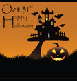 happy hallowen background vector image