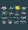 health and beauty care labels spayoga vector image vector image