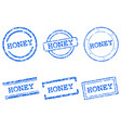 honey stamps vector image vector image