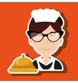 housekeeper woman maid hotel vector image