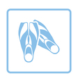 Icon of swimming flippers vector image vector image