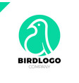 line art bird logotype design template colorful vector image vector image