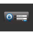 login template vector image vector image
