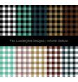 Lumberjack seamless pattern collection