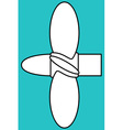 Marine propeller vector image