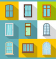 modern window icons set flat style vector image