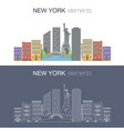 new york flat banner vector image vector image