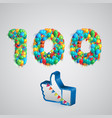 number of likes made by balloon vector image