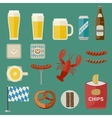 Oktoberfest Icons vector image vector image