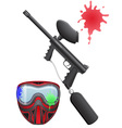 paintball set vector image