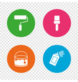 painting roller brush icon spray and paint can vector image vector image