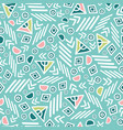 pastel tribal abstract seamless repeat pattern vector image