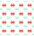 pattern with colored crabs vector image vector image