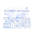 payment methods set credit card mobile app atm vector image vector image