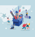 people celebrating new year or happy birthday vector image vector image